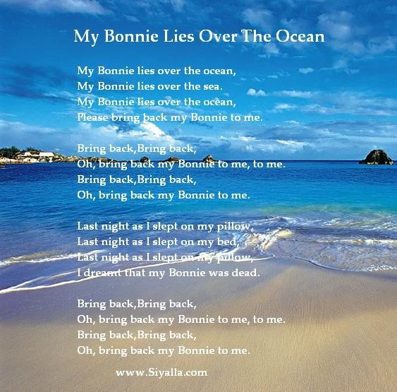 My Bonnie Lies Over The Ocean Nursery Rhymes Kids Poems For Best Collection From Siyalla