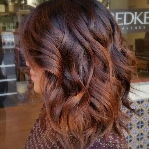 Balayage With Red Brown Hair Hairstyles In 2019 Pinterest Hair