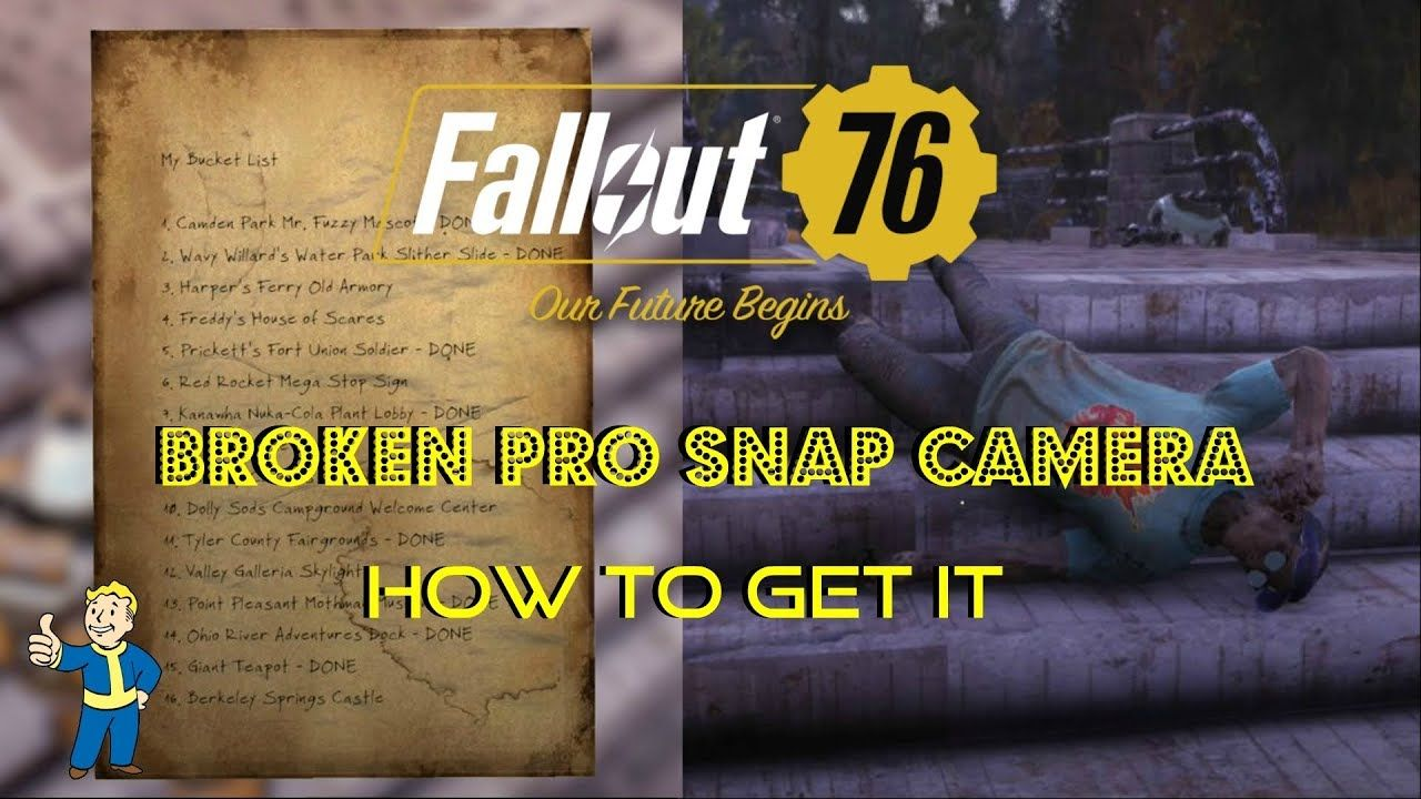 Fallout 76 | Broken Pro Snap Camera | How To Get It | Location
