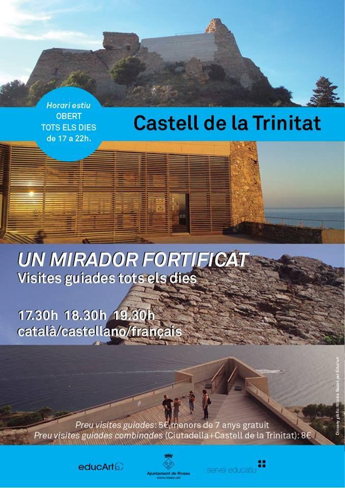 Castell de la Trinitat, horari estiu 2016/ horario de verano 2016. Roses, Costa Brava.