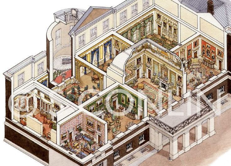 Image result for cutaway views georgian and regency houses for Regency house plans