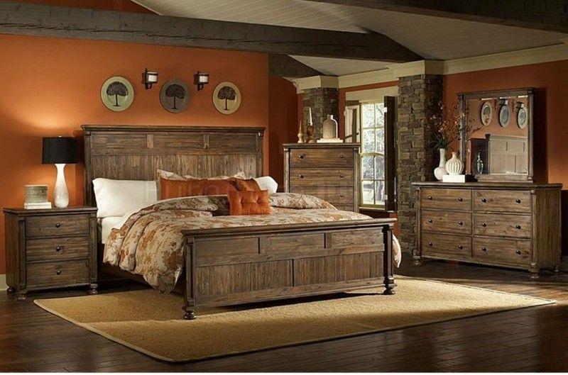 Decoracion de dormitorios rusticos - madera y piedra | Decoraciones ...