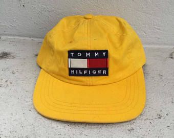 Free Shipping Vintage 90s Tommy Hilfiger flag logo cap  b552791f5e4b