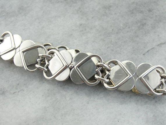 Georg Jensen Sterling Bracelet Vintage Danish Modern by MSJewelers