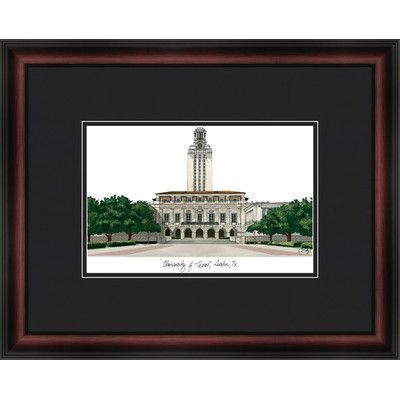 Campus Images NCAA University of Texas, Austin Academic Lithograph Framed Photographic Print