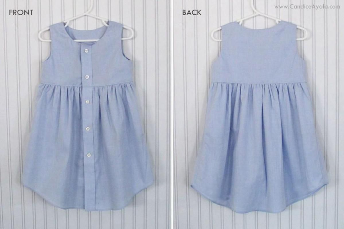 DIY Adult Shirt to LINED Toddler Dress | Nähen