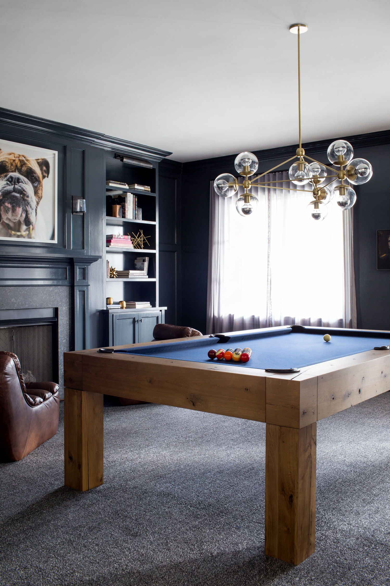 Incroyable Modern Game Room In All Navy