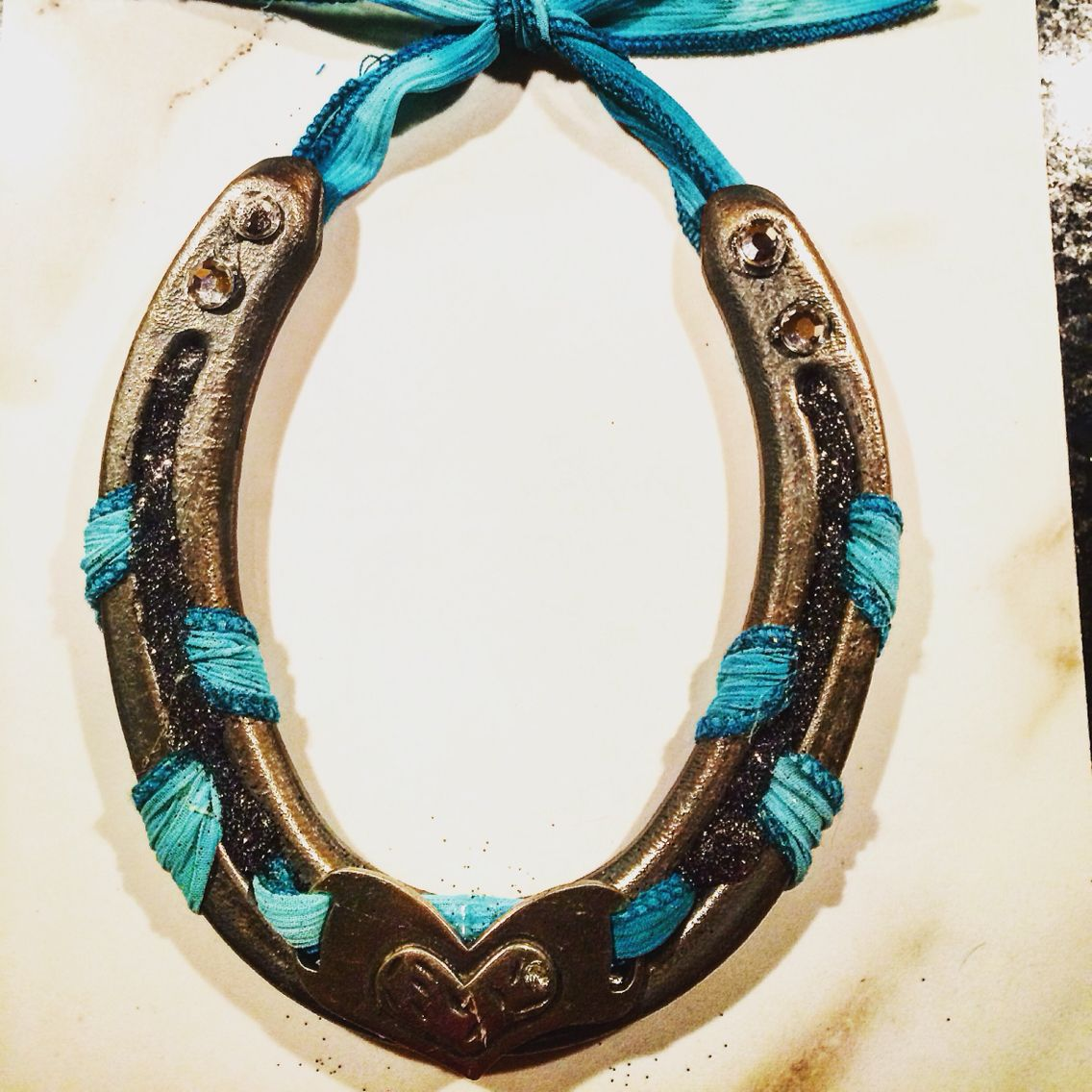 Horseshoe art for a friend\'s wedding favors Inspired by Pinterest ...
