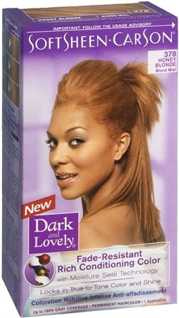 Dark And Lovely Permanent Hair Color 378 Honey Blonde 1 Each Honey Blonde Hair Color Permanent Hair Color