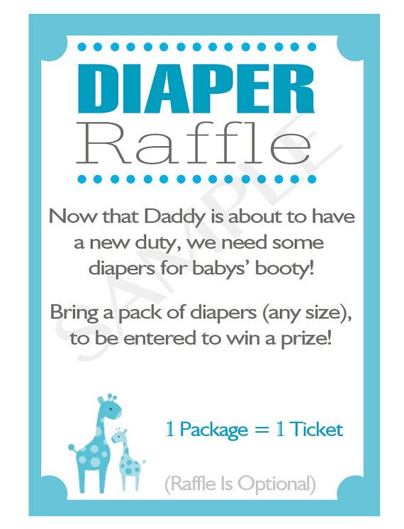 Printable DIY Blue Safari Baby Shower Diaper Raffle Inserts My
