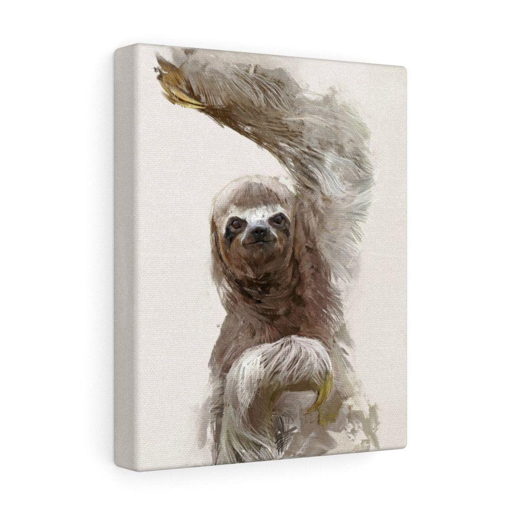 Sloth Canvas Art Beautiful Wildlife Artwork Animal Portrait Animal Nature Gift Wild Home Decor Cute Wall Art By In 2021 Wildlife Artwork Etsy Canvas Pet Portraits