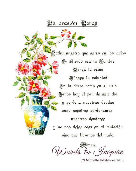 The Lord's Prayer, Spanish version (Matthew 6: 9-13 ...