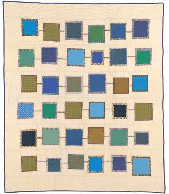When I win the lottery/gonna buy all the girls on my block/ a color TV and a bottle of French cologne...   And this quilt.  By Denise Schmidt.