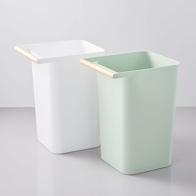 Pin By Christopher Scoville On Organization Products West Elm Wood Handle Furniture Handles Trash Can