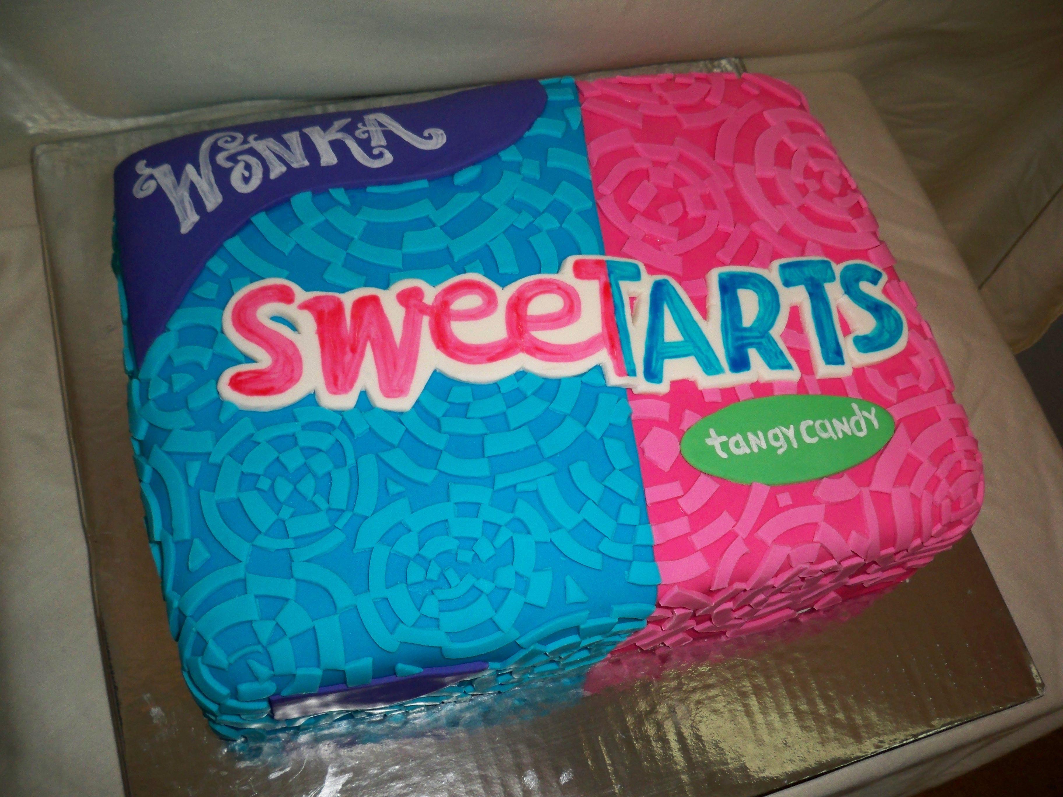 SweetTarts Cake  www.contemporarycakery.com