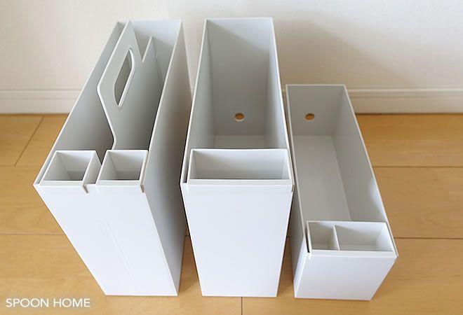 無印良品のポリプロピレンファイルボックス用ポケット 種類と収納アイデア・MUJI storage ideas
