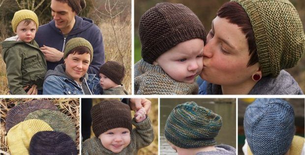 barley knitted unisex family hat | the knitting space