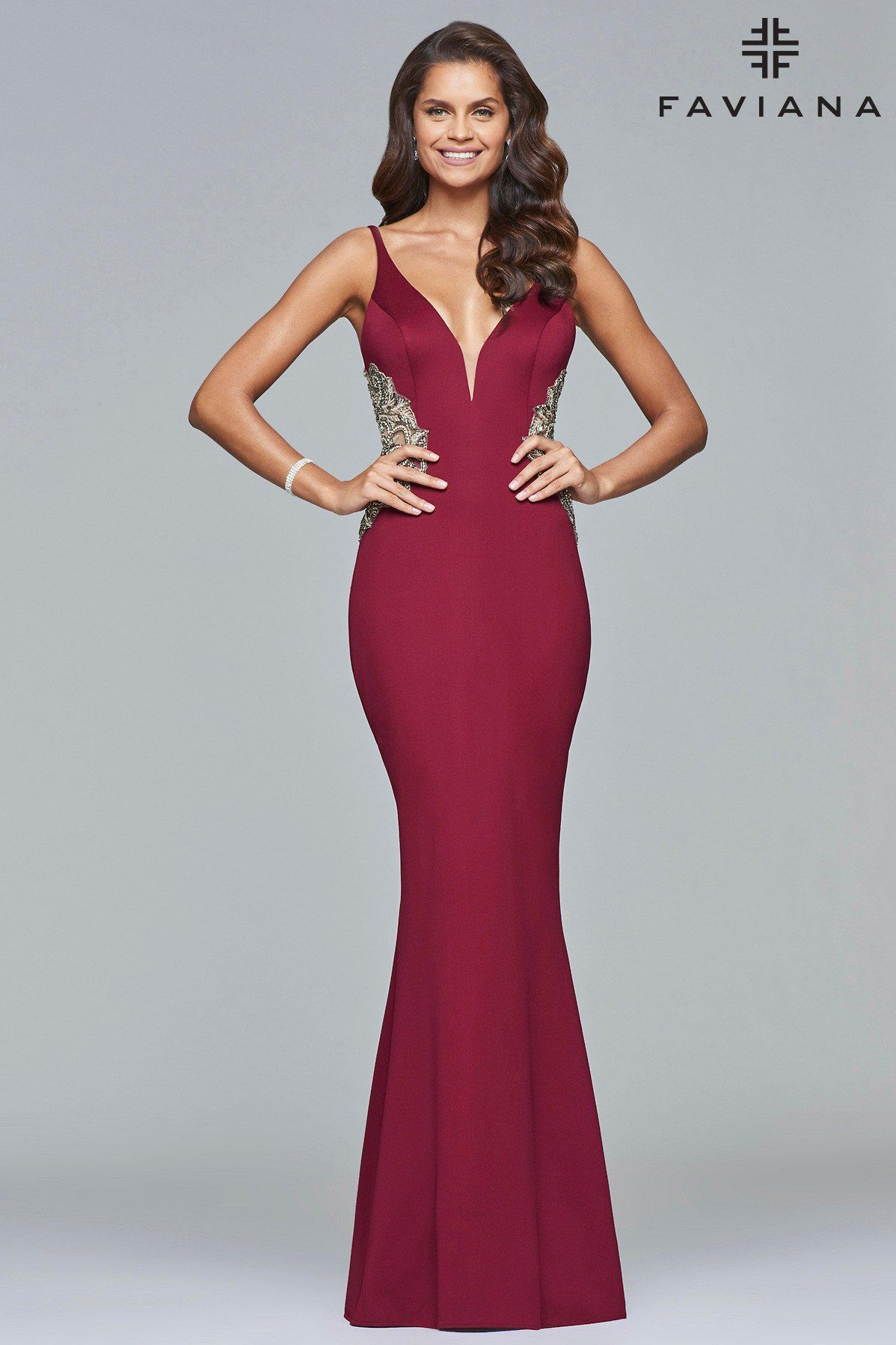 2bdaf35165 Faviana style S7916 will surely make a statement. Ideal for a slender or  curvy body shape