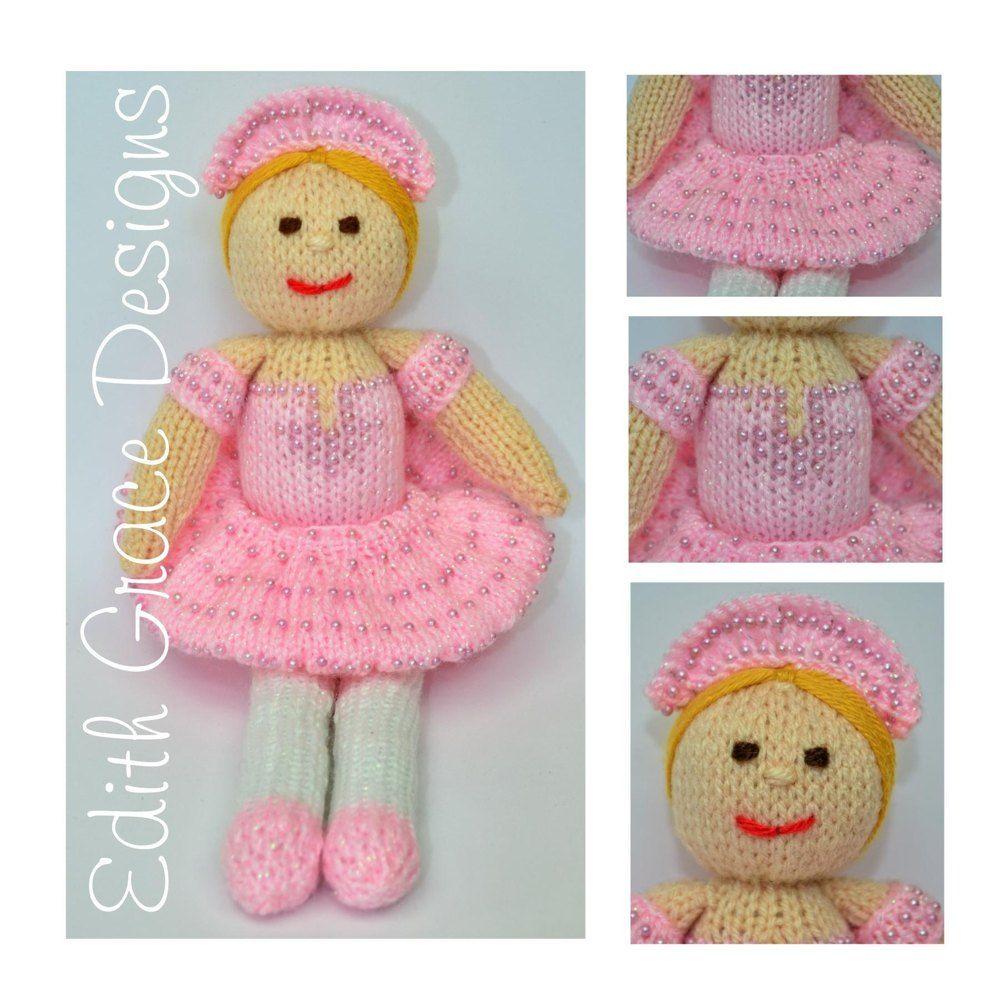 Betsy Ballerina Doll - Toy Knitting Pattern | Ballerina doll, Work ...