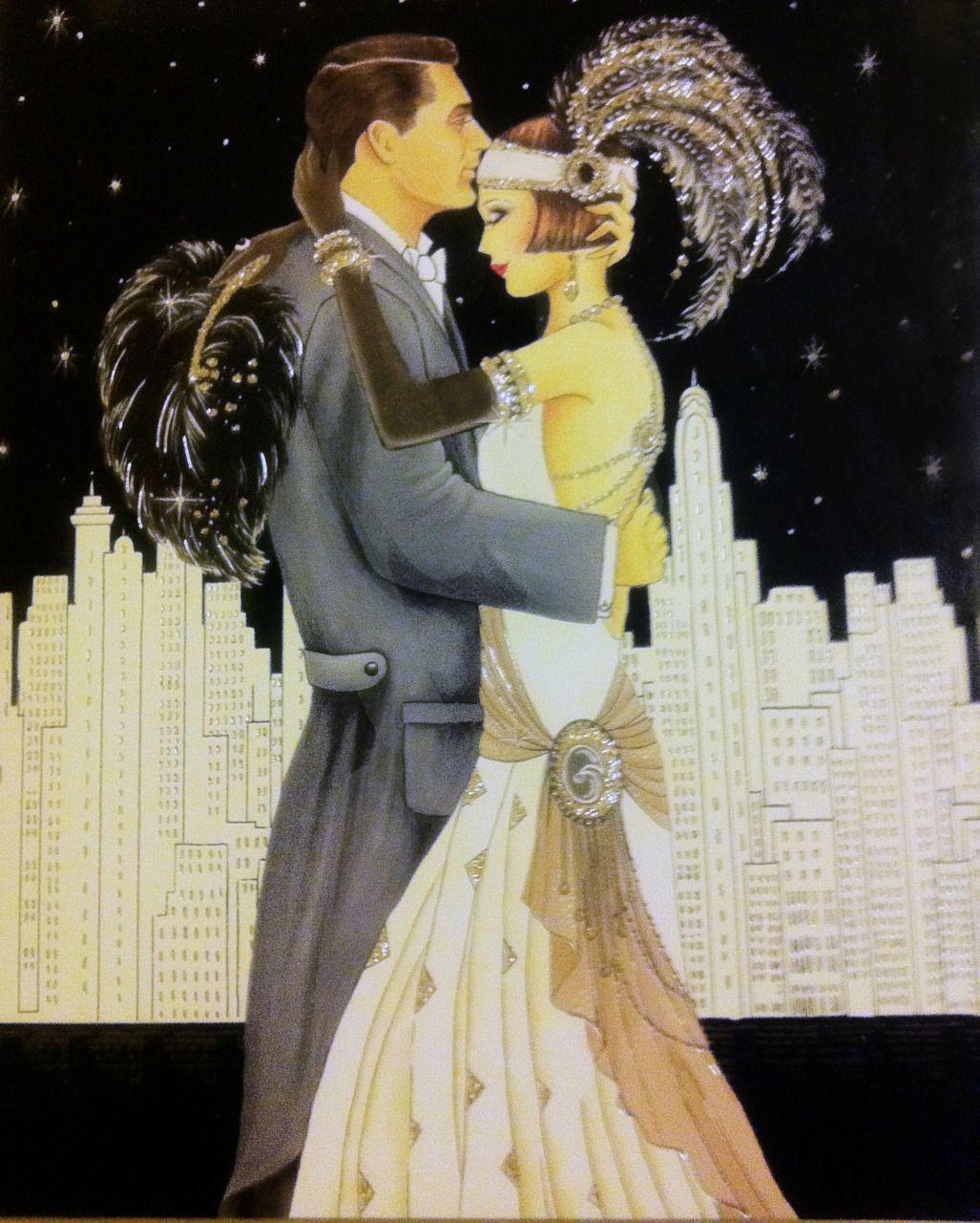 Картинки про любовь в стиле арт деко