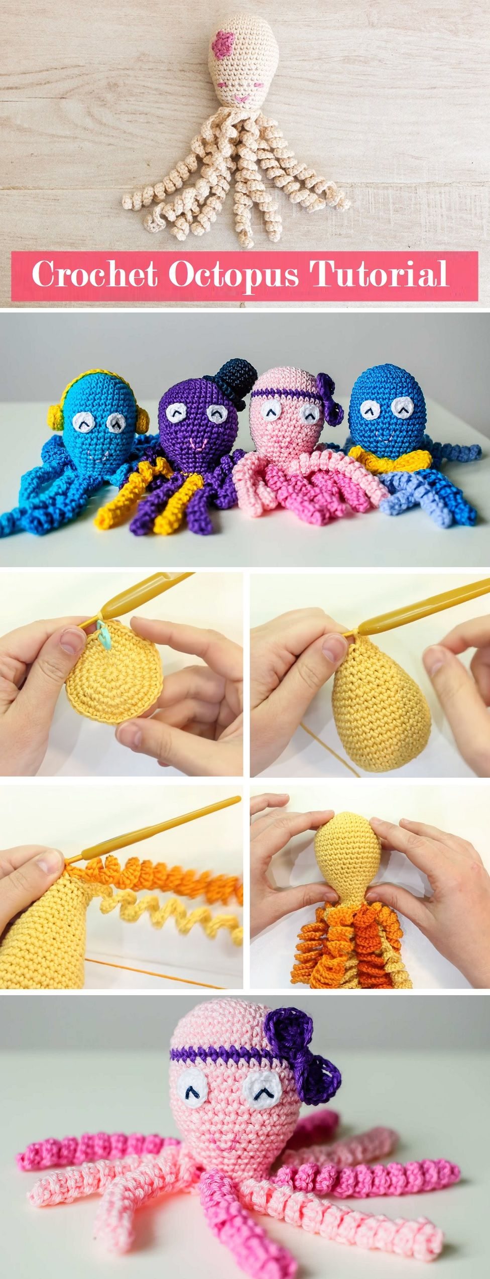 Octopus Crochet Tutorial - Design Peak