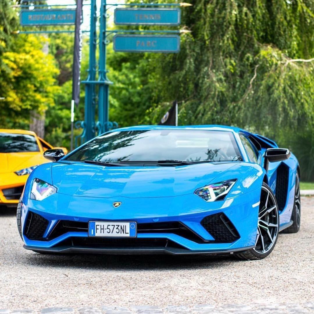 Beautiful Blue With Images Lamborghini Aventador Cars