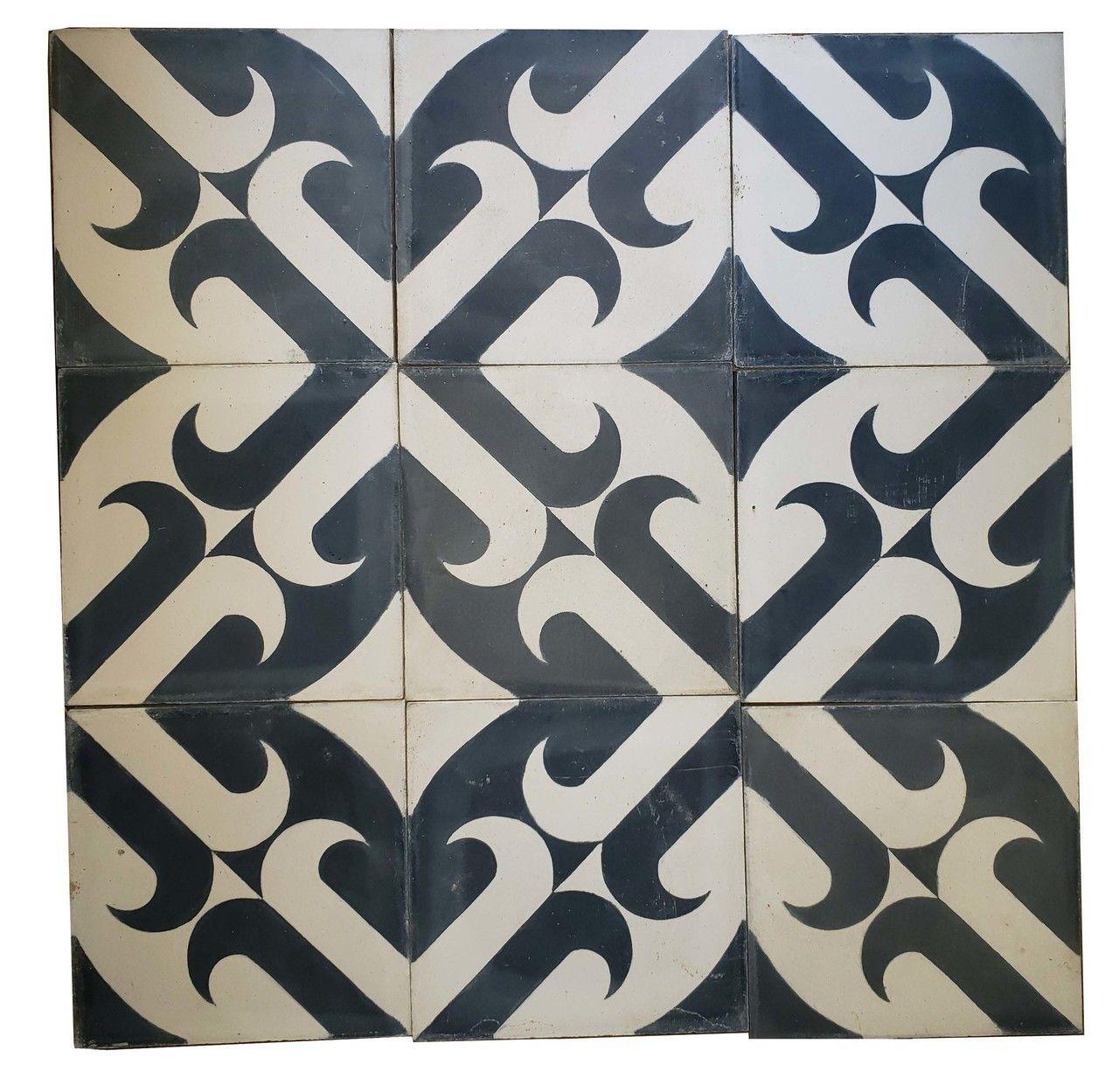 Moroccan Cement Tile - CT111 Moroccan hand painted floor