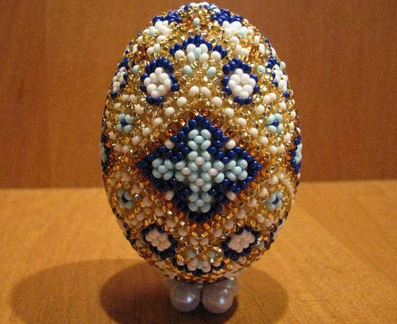 Easter egg beaded Easter egg Exclusive Easter eggs egg beads colorful souvenir home decor wooden egg ethnic design Gifts for Easter