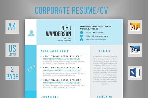 Simple Resume CV @creativework247 Resume Templates Pinterest - simple resumes templates