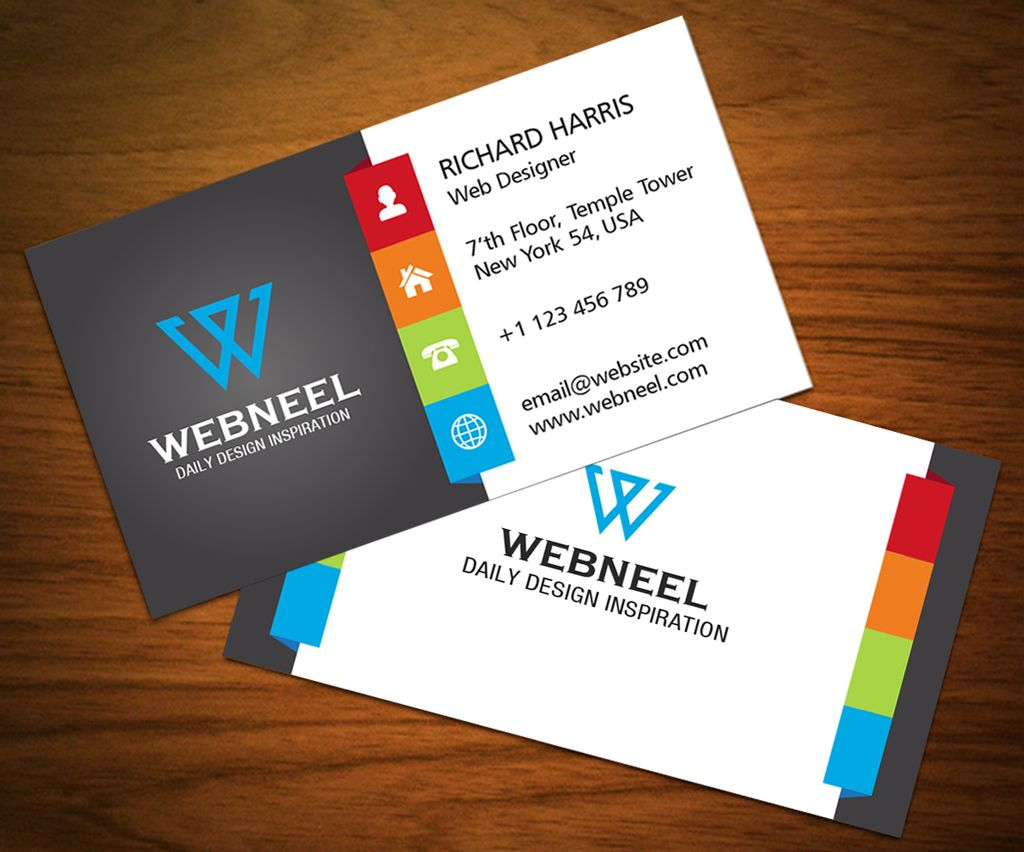3 Colorful Corporate Business Card Template Freedownload For Web Design Busi Business Card Design Free Business Card Templates Corporate Business Card Design