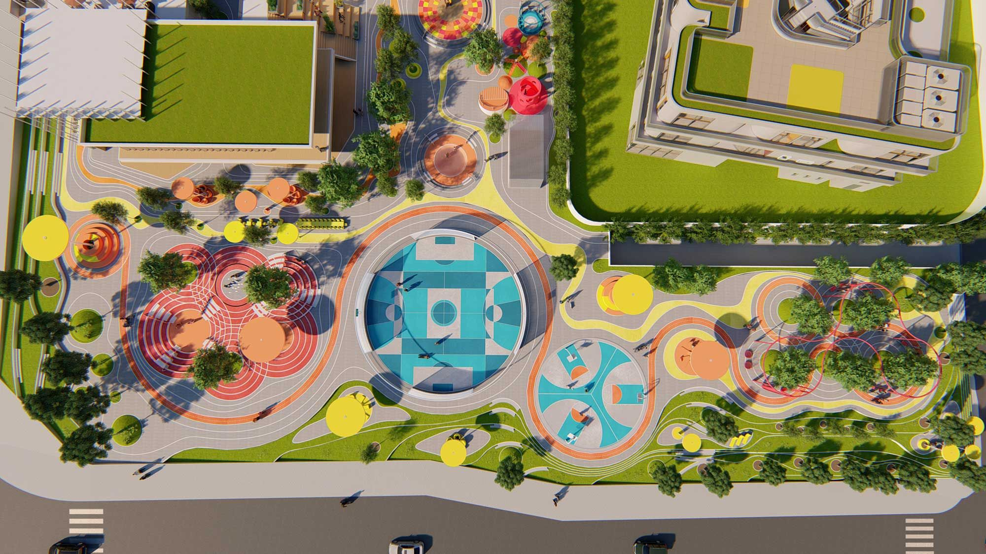 Doodle park 100architects in 2020 playground design