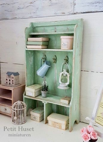 Dollhouse miniature shelving #dollhouseminiaturetutorials