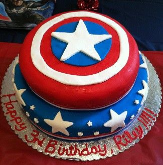 Captain America Cake captain america Pinterest