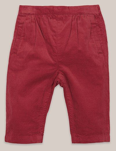 Boys Soft Cord Trousers (3 Months - 5 Years) | Marks & Spencer London