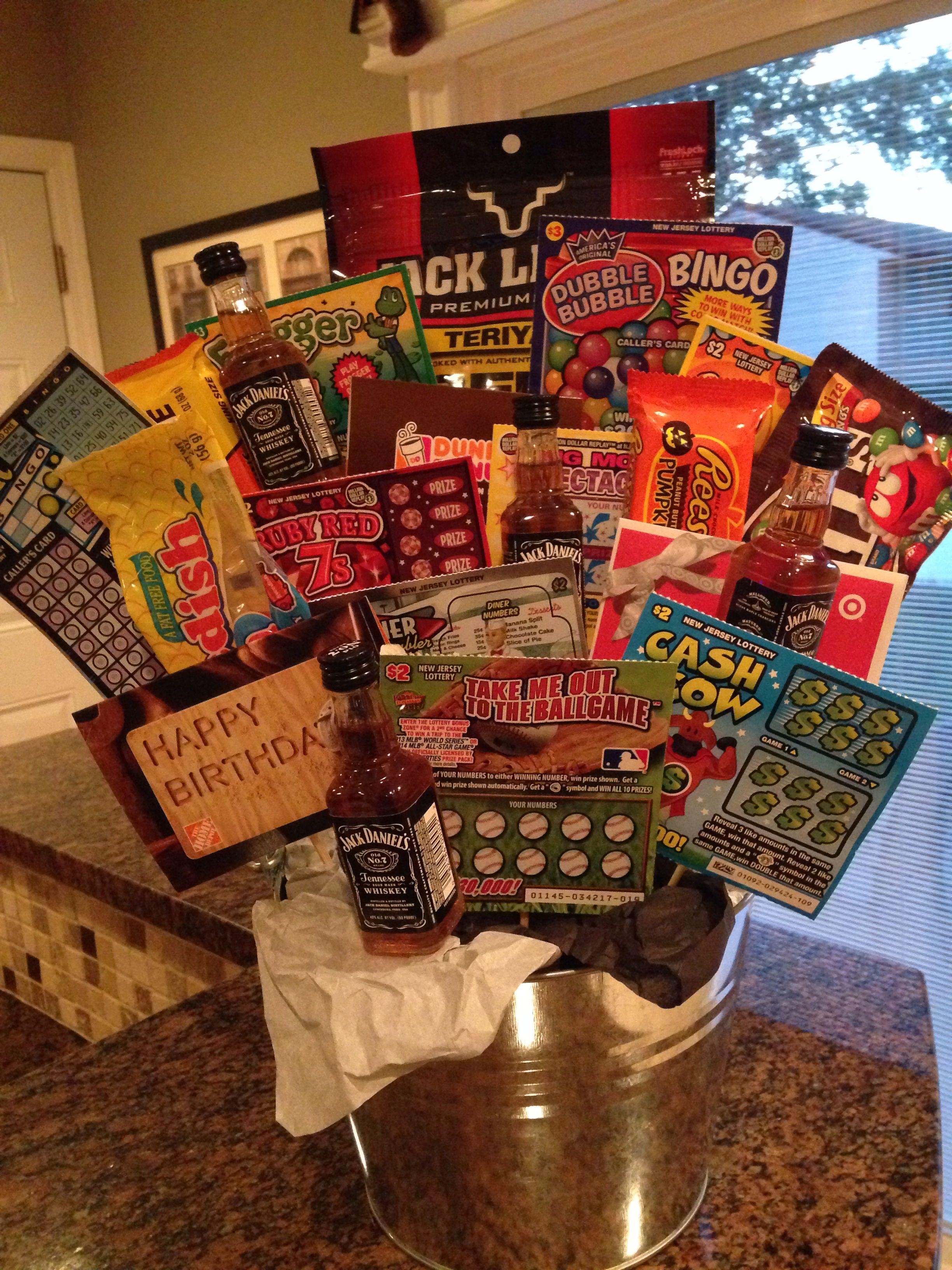 Birthday gift basket for guys birthday gift baskets