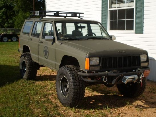 Flat Green And Black Great Combo Jeep Xj Mods Jeep Cherokee Xj