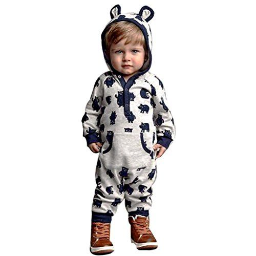 369f34466a Toraway Newborn Baby Boys Girls Cartoon Hoodie Jumpsuit Romper Bodysuit  Warm Clothes Outfits 1218 Month Navy ** Check out the image by visiting the  link.