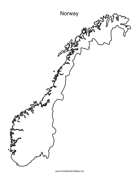 This Printable Outline Map Of Norway Is Useful For School Assignments Travel Planning And More Free To Download And Print Norway Map Norway Map Art
