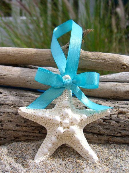Starfish Beach Wedding Favor OrnamentTIFFANY by sandnsurfcreations, $10.00