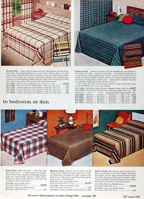 Sears 1960 Fall Catalog Bedroom Vintage Bedroom Night Stands
