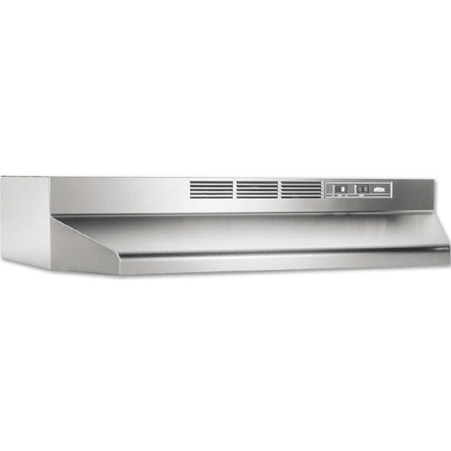 Broan 30 In Ductless Stainless Steel Black Undercabinet Range Hood With Charcoal Filter Lowes Com Broan Recirculating Range Hood Ductless Range Hood