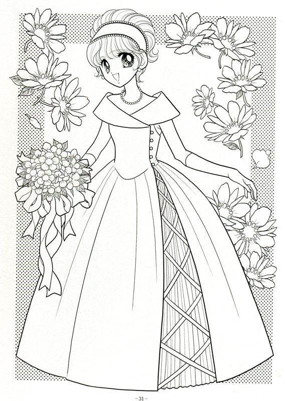 Japanese Shoujo Coloring Book 3 Mama Mia Picasa Web Albums Coloring Pages Coloring Books Coloring Book Art