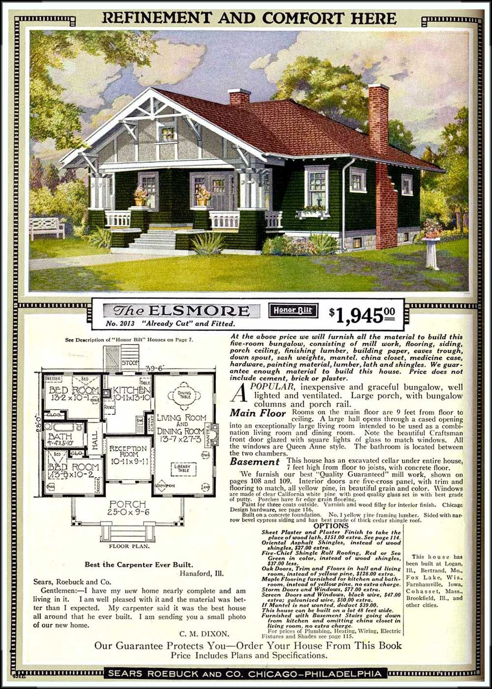 Sears Roebuck Catalog Home 2013 The Elsmore 1921 Craftsman House Sears Catalog Homes Vintage House Plans