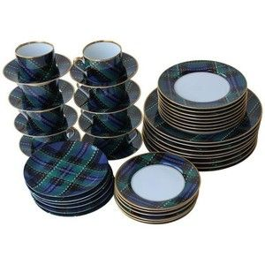 Blue Tartan Plaid Dinnerware Set by Fitz and Floyd | Everything ...