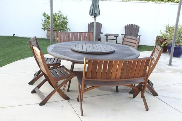 Exceptionnel Jensen Jarrah Outdoor Furniture Set (saw This On Craigslist, Thirteen  Pieces For $1000)