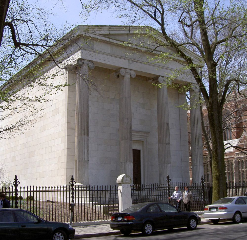 Book and Snake tomb, one of Yale's secret societies | Weird Stuff