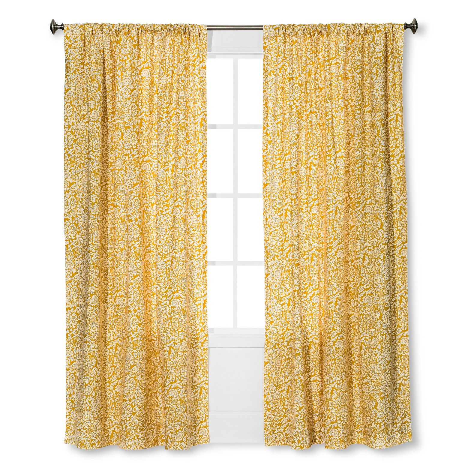 Floral Paisley Window Curtain Panel Threshold Target With