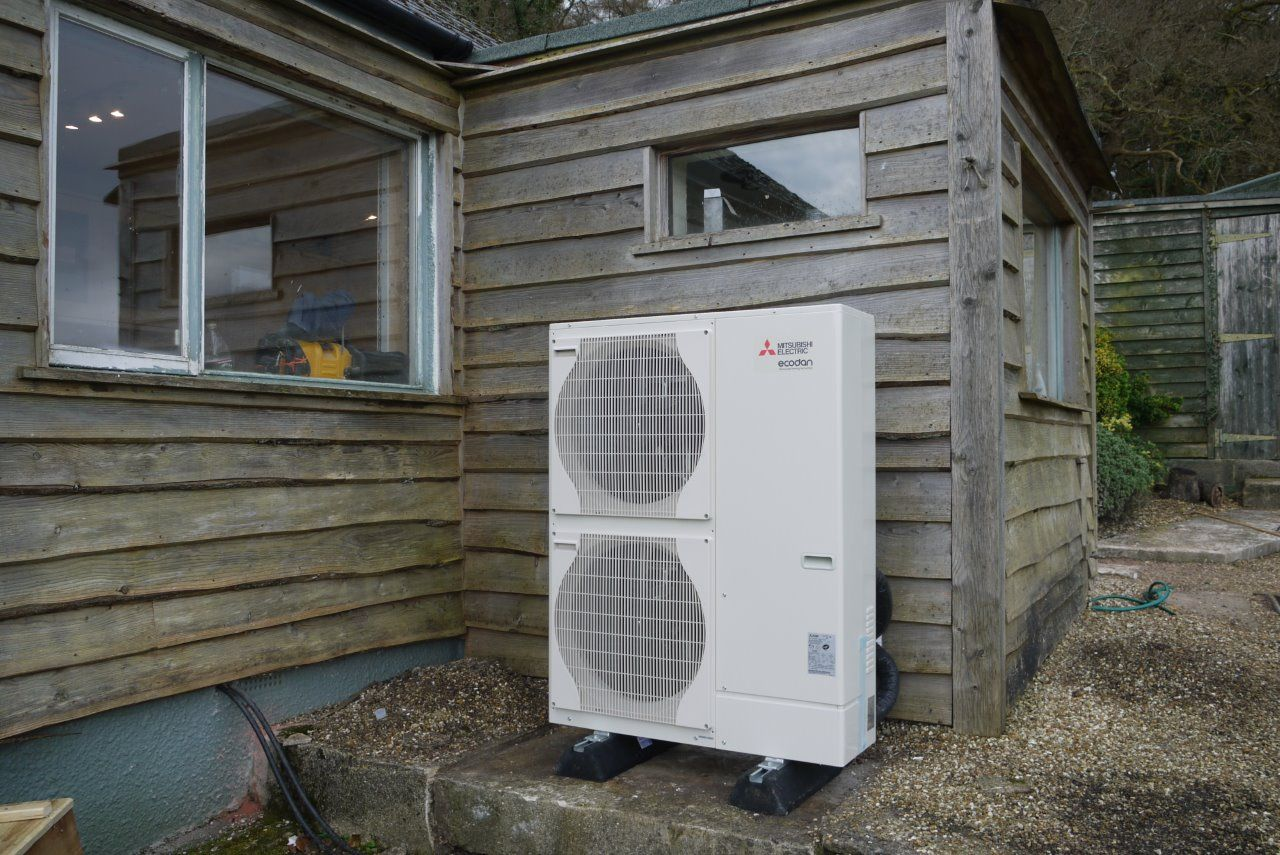Air Source Heat Pump installed by Evergreen Renewable