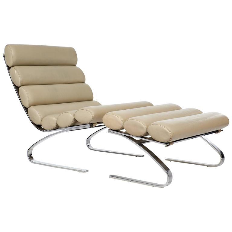 Exceptionnel U0027Sinusu0027 Lounge Chair With Ottoman By Adolf U0026 Schropfer