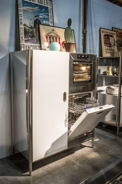 CUCINA CONVIVIO - TOP INOX 125X310   Dishwashers, Fridge and Columns